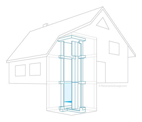 Fahrstuhl Einfamilienhaus Preis personenaufzug für einfamilienhaus privataufzug kosten