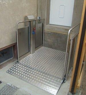 Der Plattform Treppenlift für außen