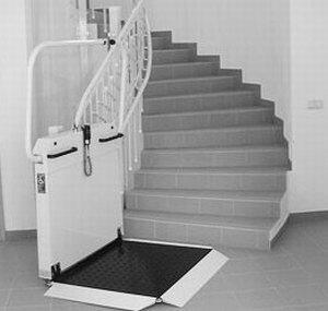 Plattform Treppenlift für innen