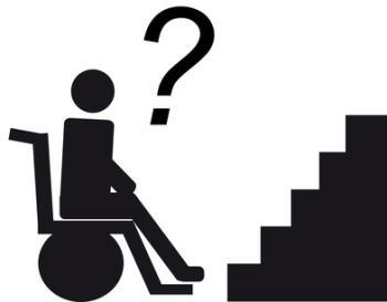 Treppensteighilfe für Rollstuhl